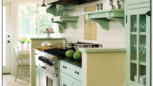 Recommended Light Green Kitchen Home Cabinet