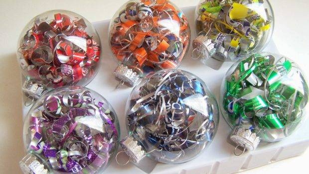 Recycle Recycled Christmas Tree Ornaments