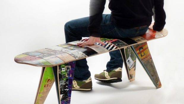 Recycled Skateboard Bench Deckstool Chairblog