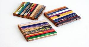 Recycled Skateboard Furniture Gifts Ripped Coaster Set
