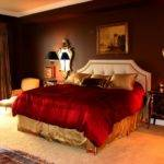 Red Bedrooms Dark Brown Interiors Design Painting Colors