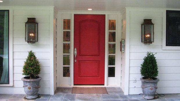 Red Front Door Bold House Exterior Traba Homes
