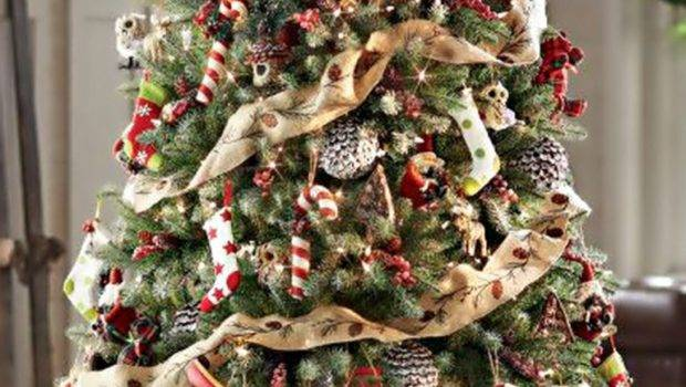 Red Gold Christmas Tree Decoration Ideas