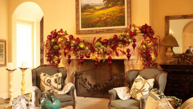 Red Gold Decor Get Right Christmas Theme
