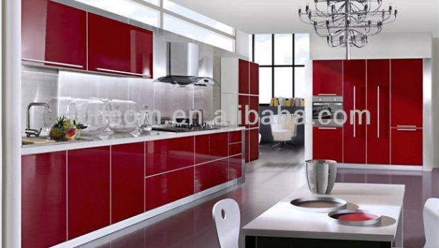Red High Gloss Mdf Kitchen Cabinet Door Buy Pvc