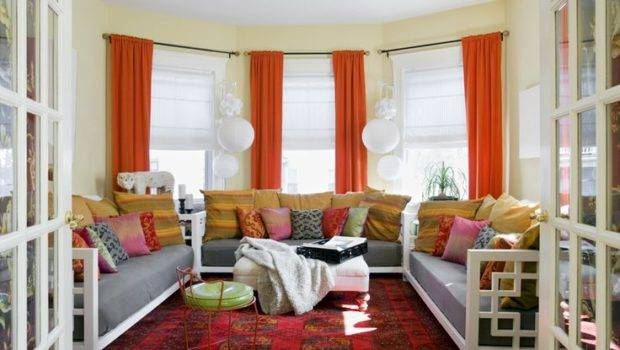 Red Orange Yellow Living Room Creating Home Pinterest