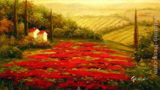 Red Poppies Tuscany Painting Best Paintings Sale