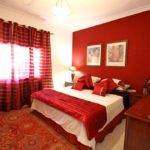 Red Wall Color Satin Bedding Modern Romantic Bedroom Colors