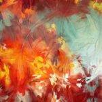 Related Post Abstract Christmas Painting