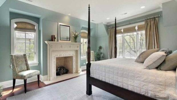 Relaxing Bedroom Colors Fireplace
