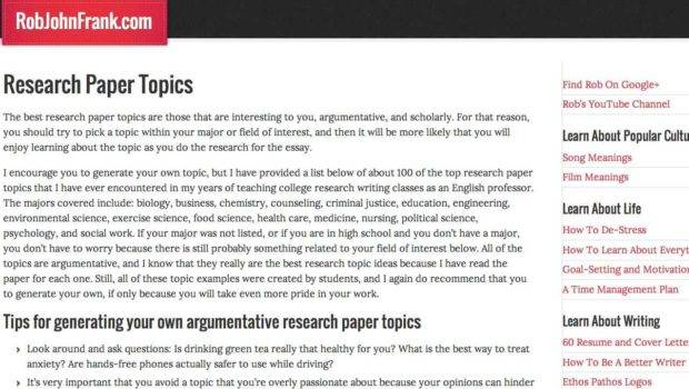 Research Paper Topics Top Best Discovery