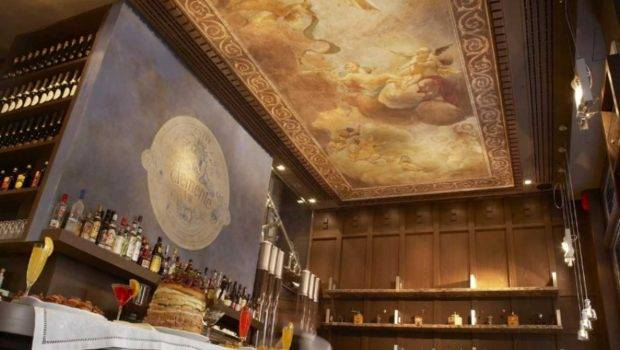 Restaurant Bar Fresco Ceiling Painting Designs