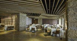 Restaurant Interior Stone Wall Design Creative Partition