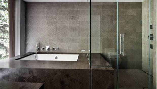 Restored Modern Glass House Bathroom New