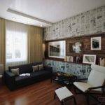 Retro Poster Lounge Feature Wall Olpos Design
