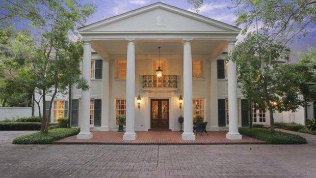 River Oaks Home Houston Texas Fine Example Colonial Style
