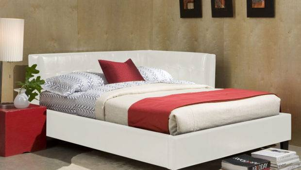 Rochester Corner Beds White Twin Upholster Bed