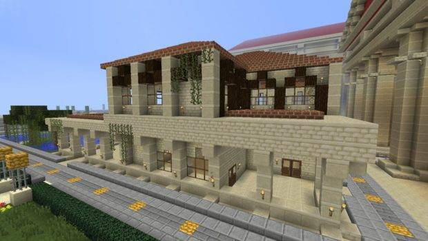 Roman House Style Minecraft Project