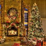 Room Curtains Living Christmas Decorating
