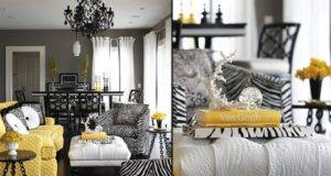 Room Decorating Ideas Black White Living