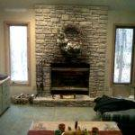 Room Fireplace Before Stone Rework Artificial Wall Panels