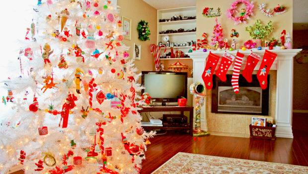 Room Ideas Living Great Christmas Decorating
