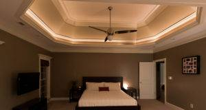 Room Master Bedroom Had Rope Lights Tray Ceilings