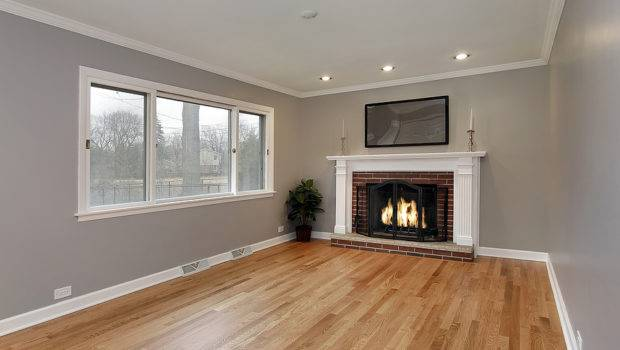 Room Remodeled Home Brick Fireplace
