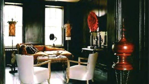 Rooms Painted Black Little Red House