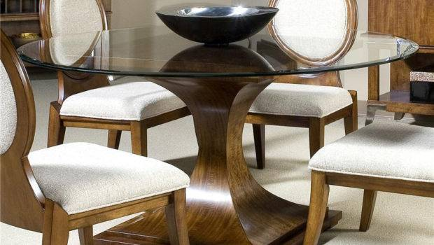 Round Glass Top Dining Room Table Marceladick