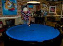 Round Pool Table Never Seen One Before