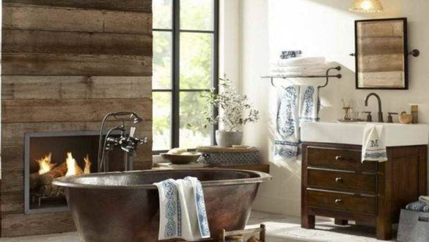 Rustic Bathroom Ideas Fireplace