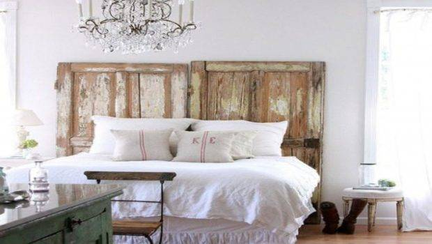 Rustic Chic Bedroom Ideas Diy Futon Frame Using Doors Old