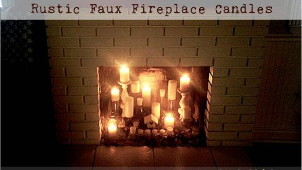 Rustic Faux Fireplace Candle Display Livin Vida