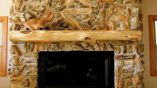 Rustic Fireplace Mantel Decor Natural Mantels Surrounds