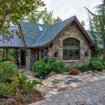 Rustic Guest House Stone Exterior Walkway Hgtv
