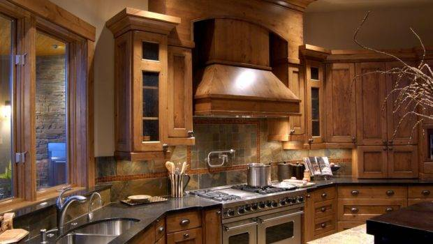 Rustic Kitchen Design Pro Viking Range Large Wood Hood