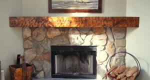Rustic Mantels Fireplace Log Mantel