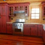 Rustic Red Kitchen Cabinets Android Iphone