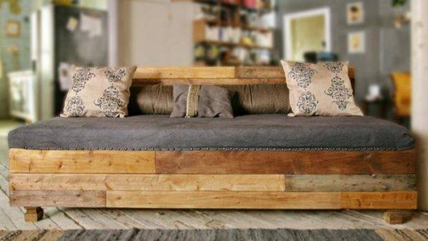 Rustic Wood Industrial Couch Pinterest