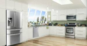 Samsung French Door Refrigerator Kitchen Setting