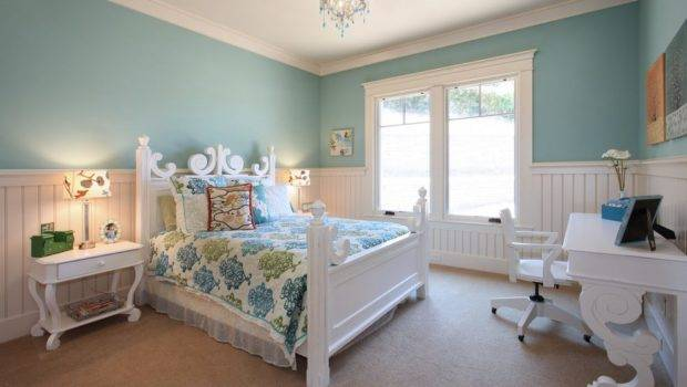 San Diego Wainscoting Bedroom Ideas Kids Traditional
