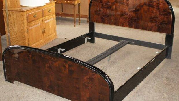 Scene Queen Bed Frame Dark Finish Unique Burl Iii Ebay