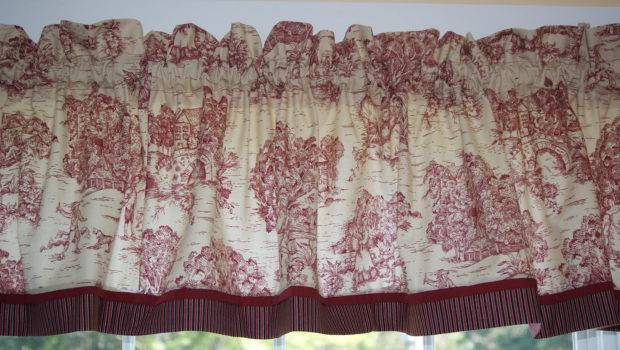 Scenic Toile Valance Drapery Weight Can Alter Curtain Window
