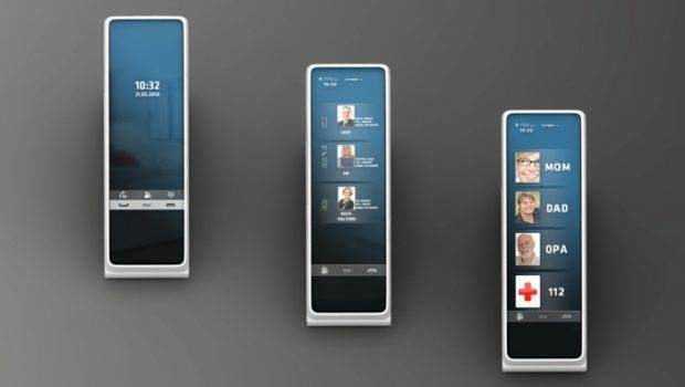 Science Touchscreen Smart Home Phone Concept Hellow Tomorrow