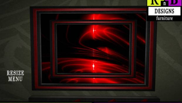 Second Life Marketplace Rnb Black Red Wall Painting