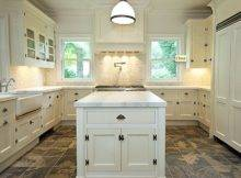 Shaker Kitchen Cabinets Island Calcutta Marble Counter