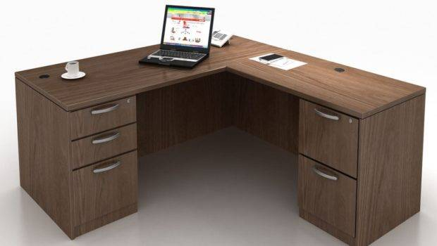 Shaped Desk Small Space Amys Office Throughout
