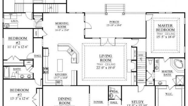 Shaped Floor Plan House Plans Pool Middle
