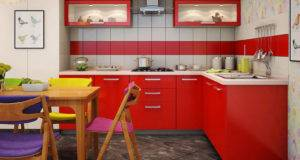 Shaped Modular Kitchen Peppy Mdf